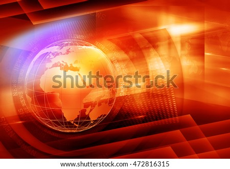 Graphical Colorful News Background