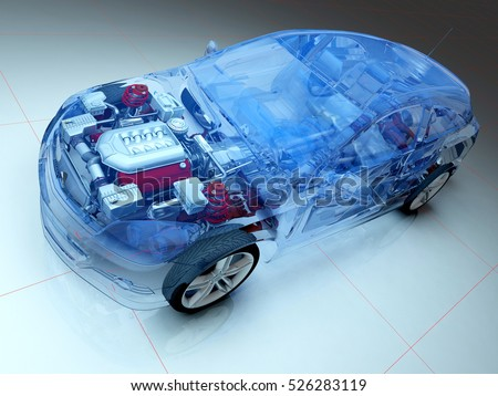 Graphical representation of the model cars.,3d render.