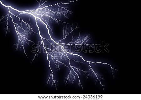 Graphically rendered bolt of lightning