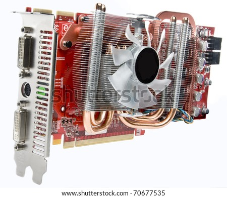 graphics card, video card - stock photo