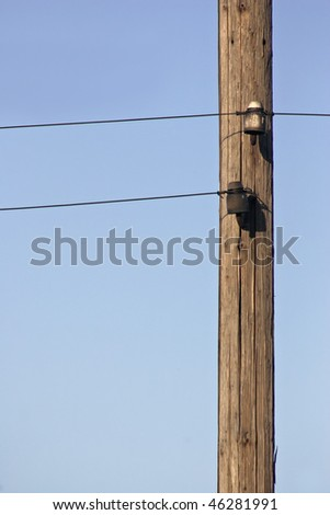 graphics of a pylon and wires - stock photo