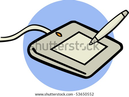 graphics tablet - stock photo