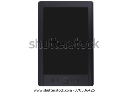 Graphics tablet on white background