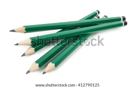 Graphite pencils - stock photo