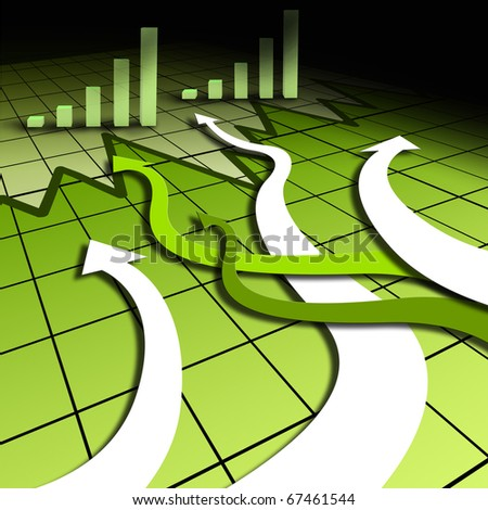 Graphs and charts. character of business activity. Illustration - stock photo