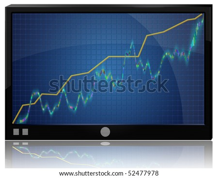 Graphs and charts - the growth rates of business. Increased  profits. - stock photo