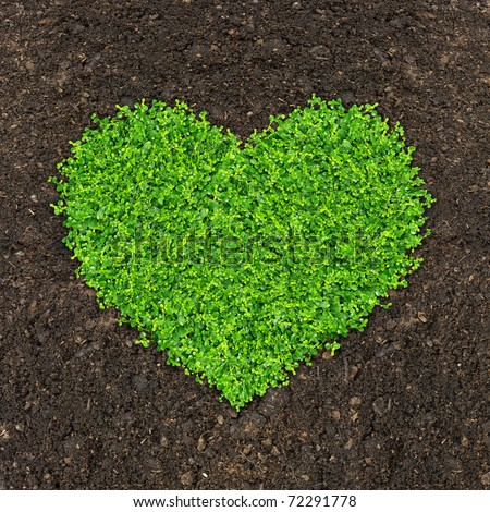 Business growth concept grass growing shape stock photo for Soil and green
