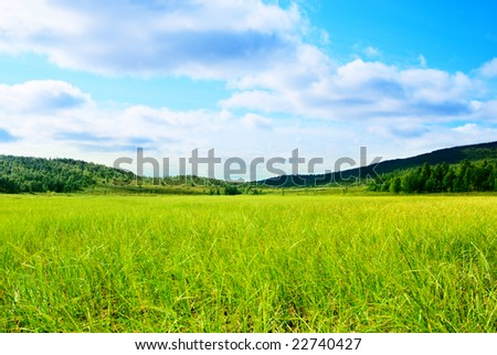 grass and north mountain