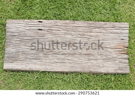 grass and wood - stock photo