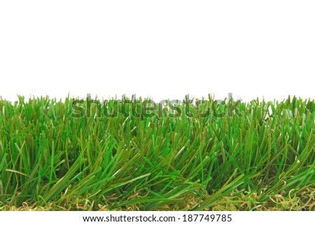 grass artificial astroturf isolated border - stock photo
