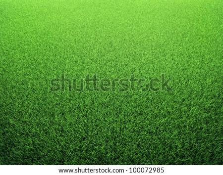 Grass background. Fresh green lawn. 3d render - stock photo