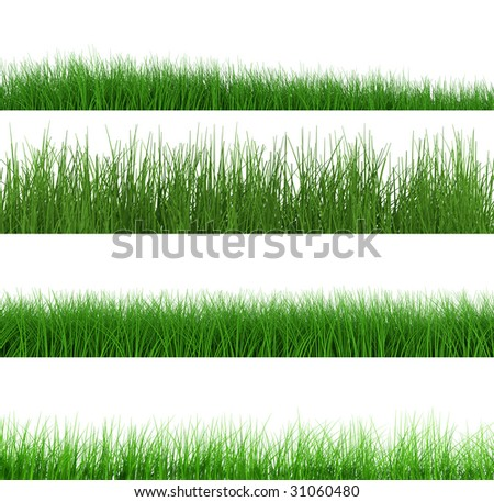 grass collection (lawn) - stock photo