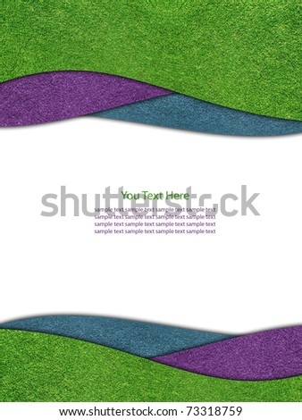 Grass colorful frame - stock photo
