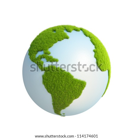 grass earth. elements of this image furnished by NASA - stock photo