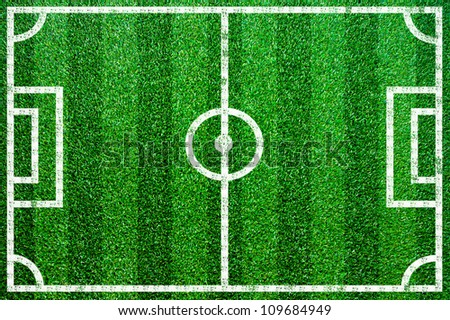 Grass football pitch. - stock photo