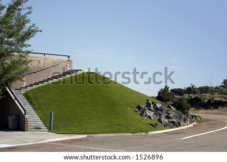 Grass Hill and the Stairs by the Rest Stop