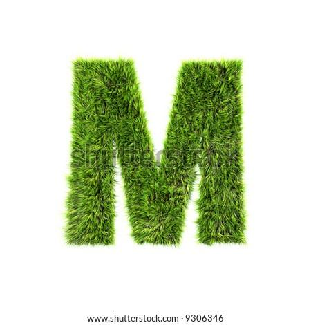Grass letter - stock photo