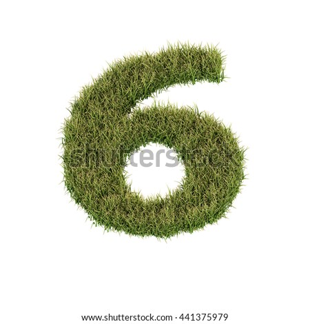 Grass letter Z isolated on white background for education or ecological concept design. Ideal for nature, natural, organic, education, ecology, environment, health, spring or summer. 3D illustration.