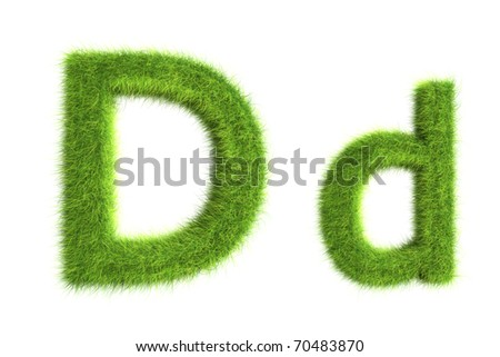 Grass letters, upper and lowercase