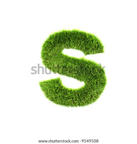 grass lower-case letter - stock photo