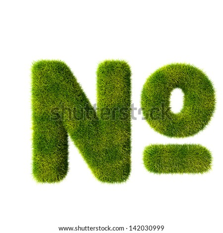 grass number isolated on a white background