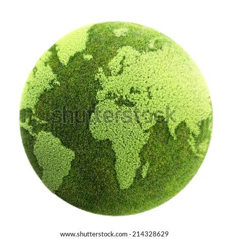 grass planet  - stock photo