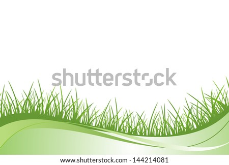 Grass. Raster copy of vector image - stock photo