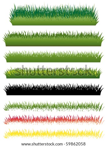 Grass set - stock photo