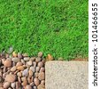 grass stones and slab texture - stock photo
