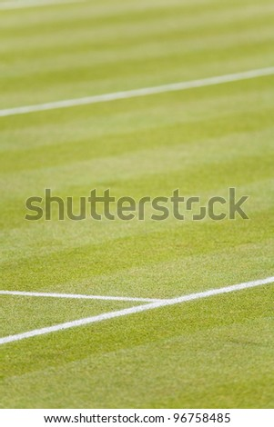 Grass tennis court - stock photo
