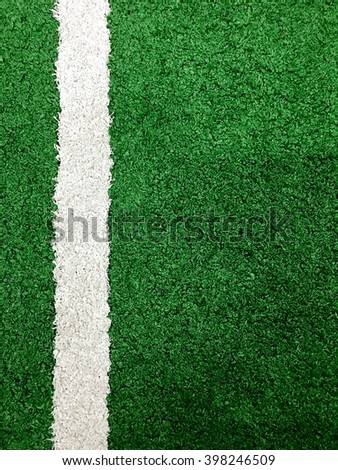Grass texture background and white line with green tone
