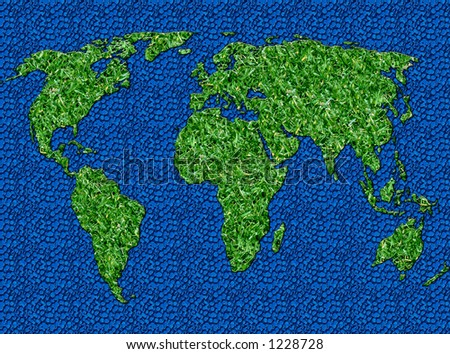 Grass World Background for Golf etc; - stock photo