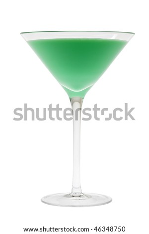Grasshopper mixed drink on white background - stock photo