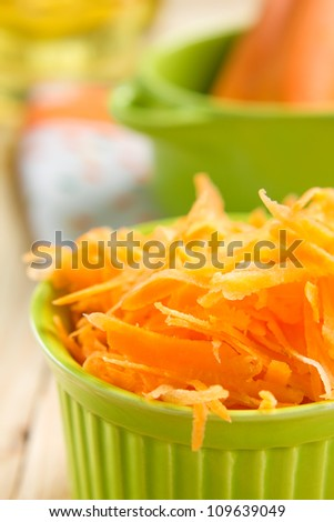 Grated carrot - stock photo