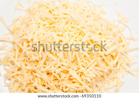 Grated cheese for a background - stock photo