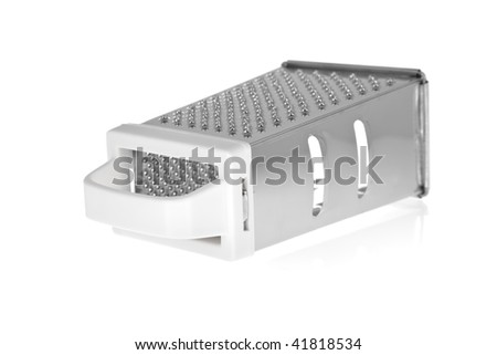 Grater in stainless steel isolated on white background