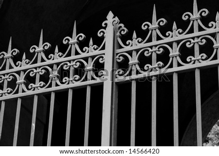 Grating fence in Roma - stock photo