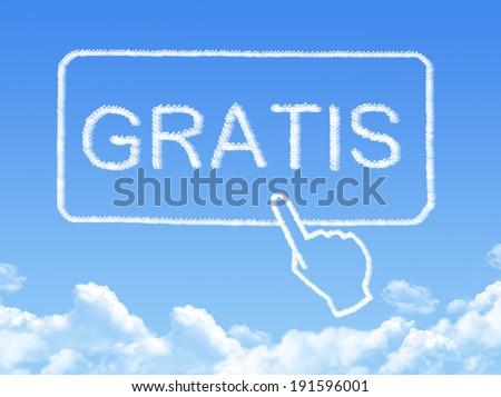 Gratis message cloud shape - stock photo
