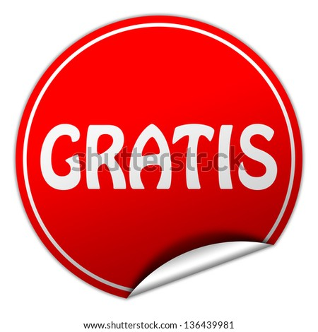 gratis sticker - stock photo