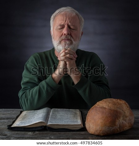 Gratitude and thanksgiving prayer for the bread of life and the daily bread. Mat.4.4 It is written, Man shall not live by bread alone, but by every word that proceedeth out of the mouth of God.