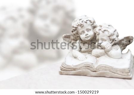 Grave angels - stock photo
