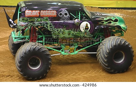 Grave digger at monster jam - stock photo