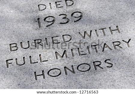 Grave Marker for American war veteran - stock photo