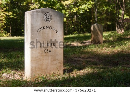 Grave of Unknown Confederate Soldier  - stock photo