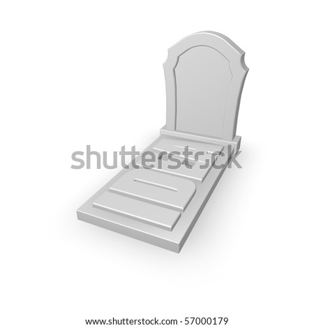 grave stone with the word idea - 3d illustration - stock photo