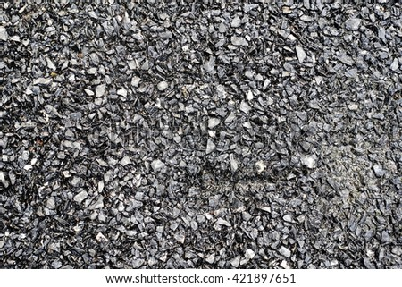 Gravel after rain - stock photo
