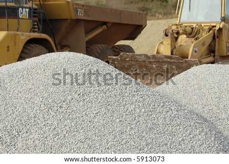 Gravel and Heavy Equipment - stock photo