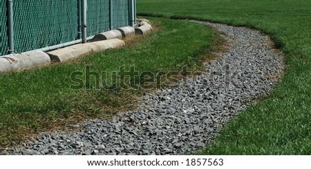 Gravel Around the Bend - stock photo
