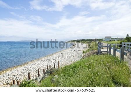Gravel Beach - stock photo