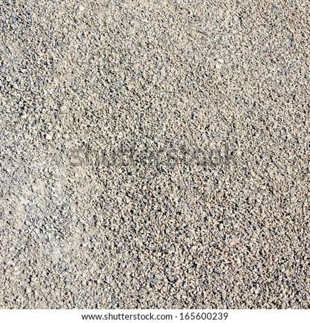 gravel gray stone textures asphalt mix concrete in road construction - stock photo